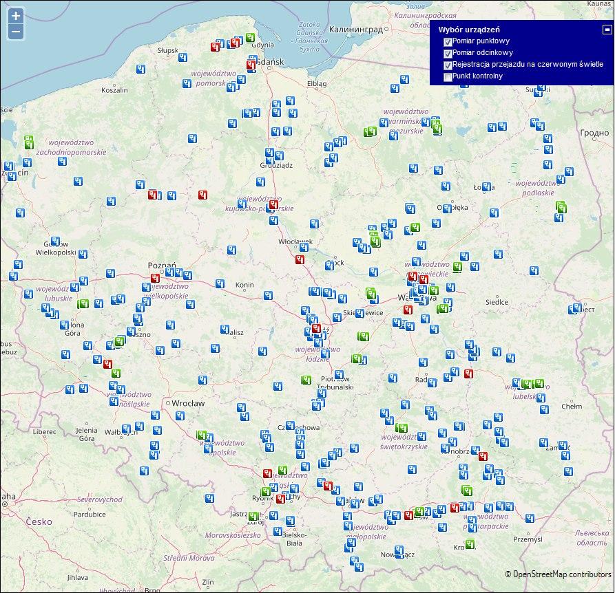 Fotoradary W Polsce Gdzie Mapa Motogen Pl Testy Nowosci