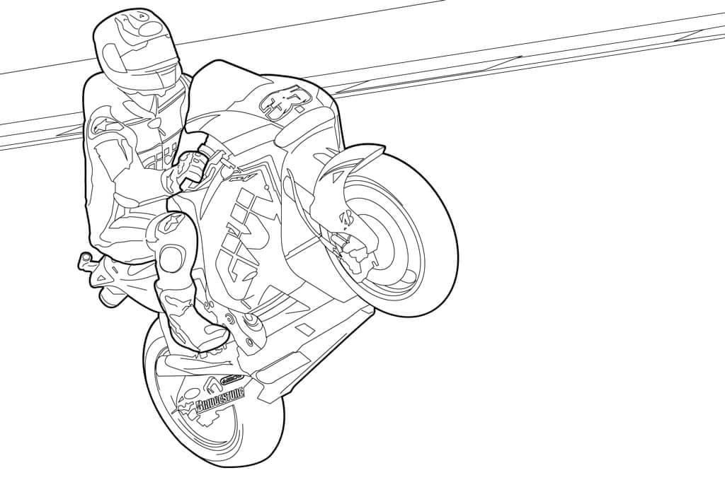 Kolorowanki motocyklowe Cal Crutchlow MotoGP