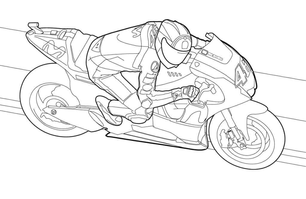Kolorowanki motocyklowe Valentino Rossi MotoGP