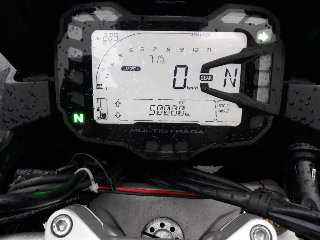 Przebieg 50 000 km Multistrada 950