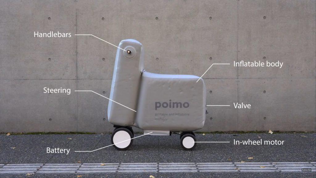 skuter elektryczny pompowany